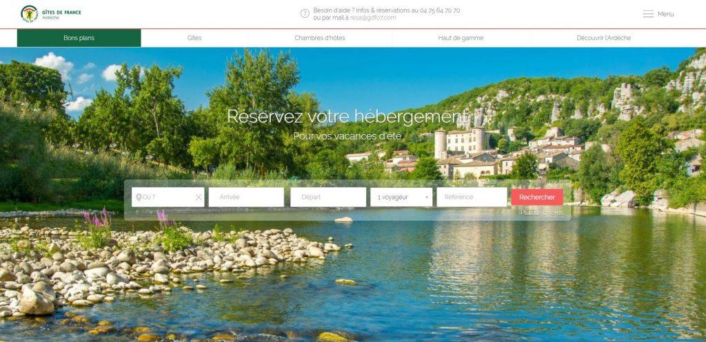Page d'accueil Site Départemental Ardèche